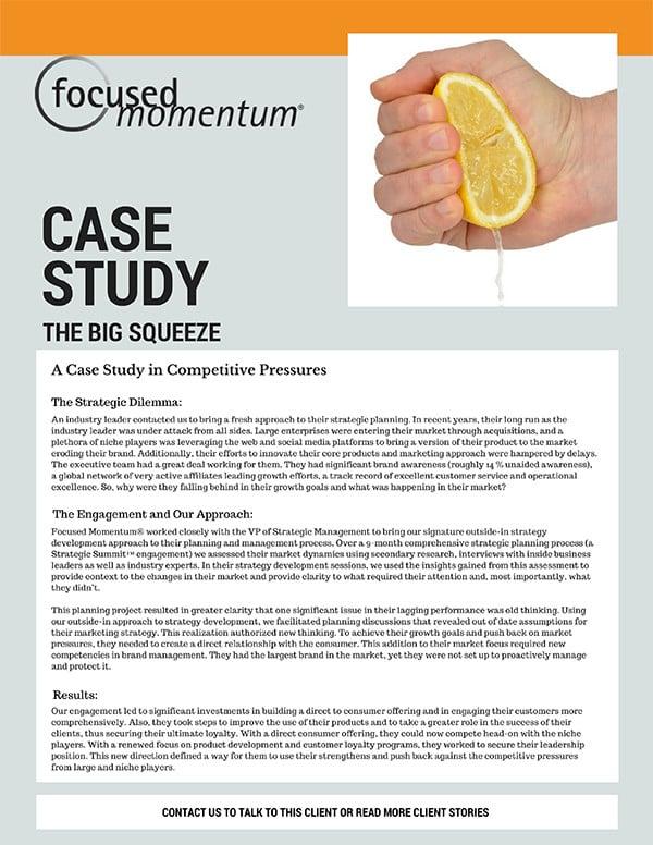 A Case Study in Competitive Pressure