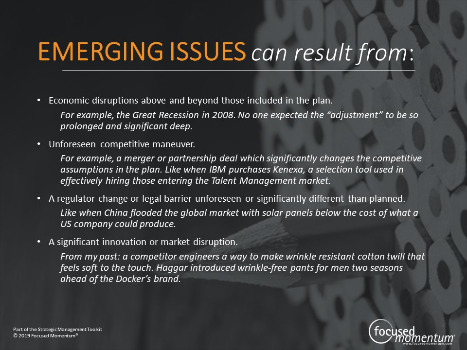 Emerging Issues examples