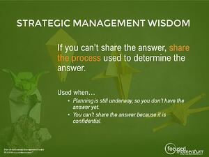 Strategic Management Wisdom - Communication